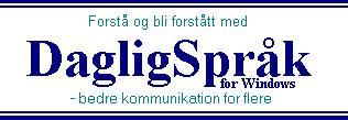 DagligSpråk for Windows hovedside (norsk)